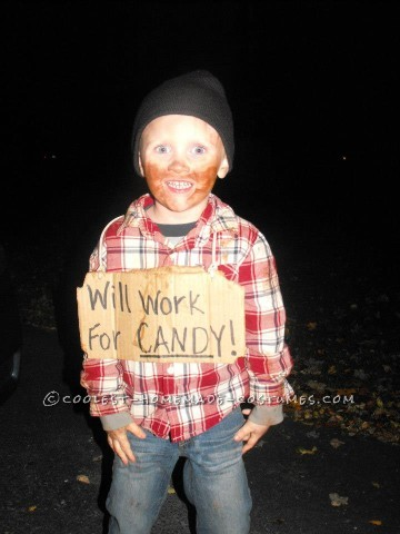 Cheap and Easy Little Bum Costume Idea for a Child - Cute Cheap Halloween Costume Ideas