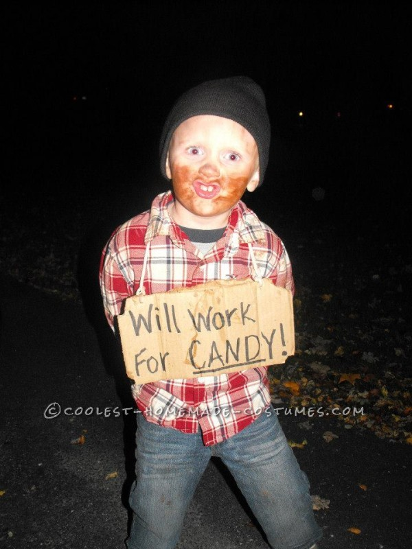 Cheap and Easy Little Bum Costume Idea for a Child - 2