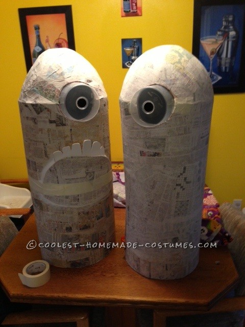 Funny Homemade Minions Couple Costume