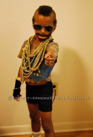 Funny Mr. T Costume for a Boy