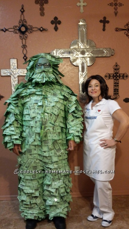 One of a Kind! Homemade Geico Money Man Costume