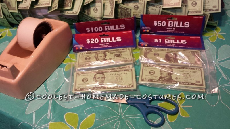 One of a Kind! Homemade Geico Money Man Costume - 2