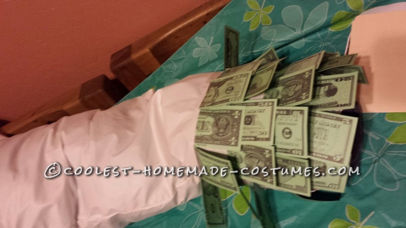 One of a Kind! Homemade Geico Money Man Costume - 3