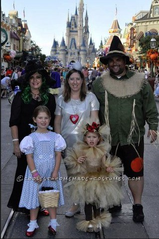Coolest Homemade Wizard of Oz Family Costume
