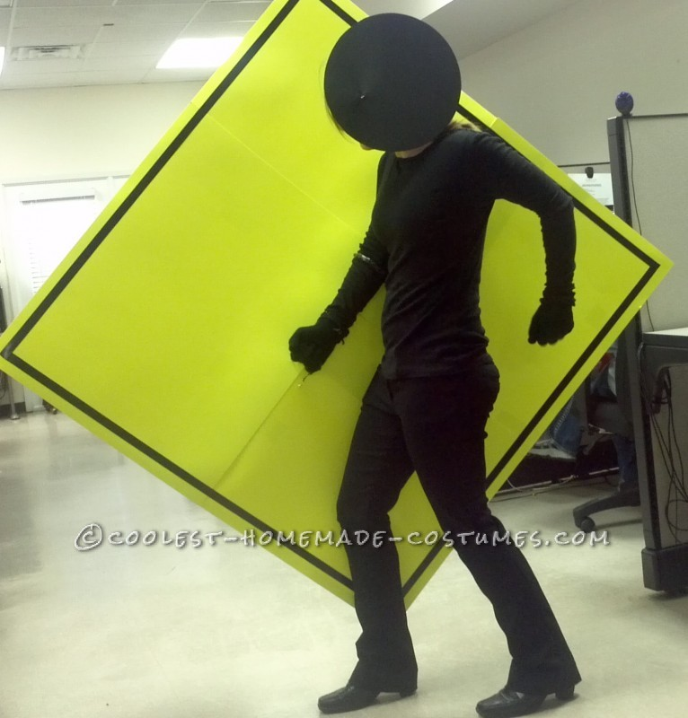 Easy and Cheap Homemade Costume Idea: Pedestrian Crossing