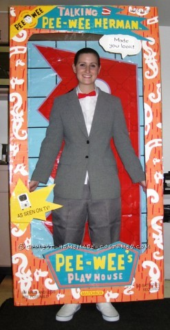 Coolest Homemade Pee Wee Herman Doll In The Box Costume