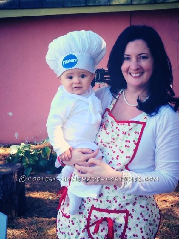 Cute Pillsbury Doughboy Baby Costume (and Mom the Baker) - 2