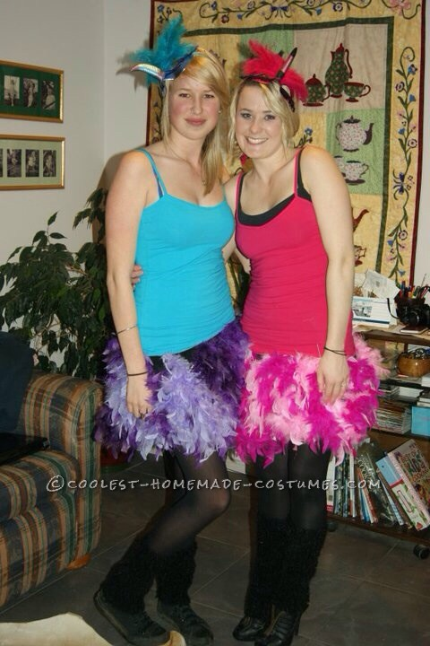 Pink Flamingo and Hedgehog Couple Costume for Alice in Wonderland Party - 1