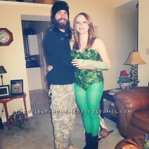Sexy Homemade Poison Ivy Halloween Costume