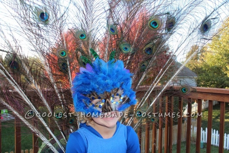 Pretty Little Peacock Costume for a Girl - 6