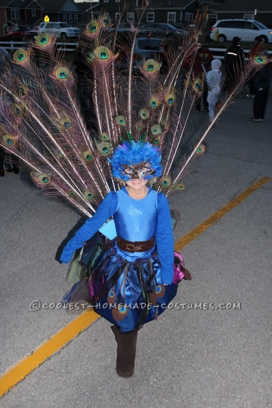 Pretty Little Peacock Costume for a Girl - 1