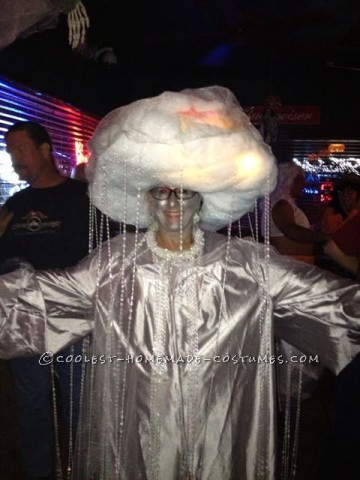 Coolest Homemade Costume Idea: Rain Cloud with Heat Lightning and Sounds of Thunder