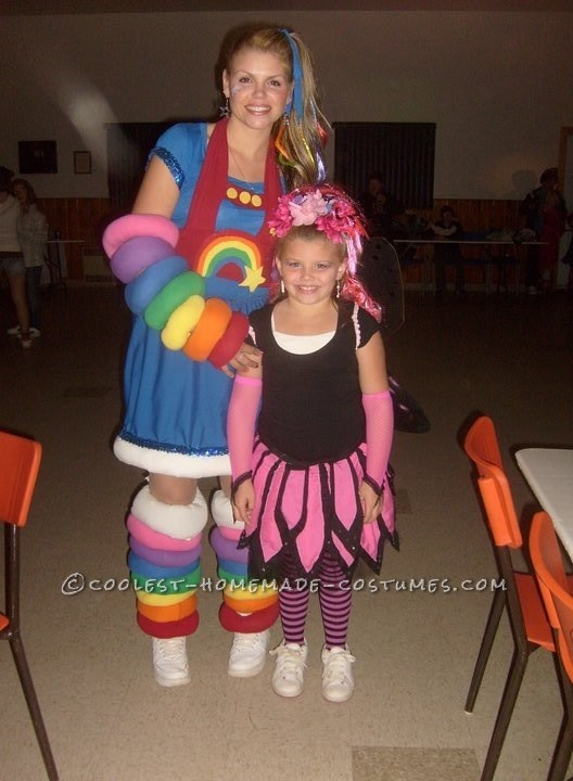 Cool DIY Rainbow Brite Costume for a Woman