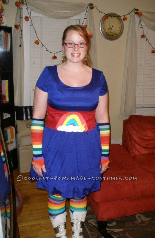 My completed Rainbow Brite costume