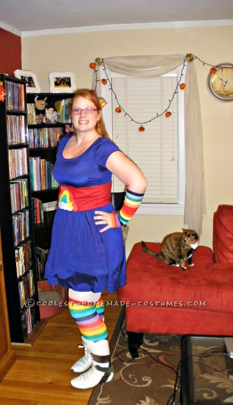 Finished Rainbow Brite costume