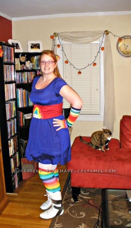 Finished Rainbow Brite costume