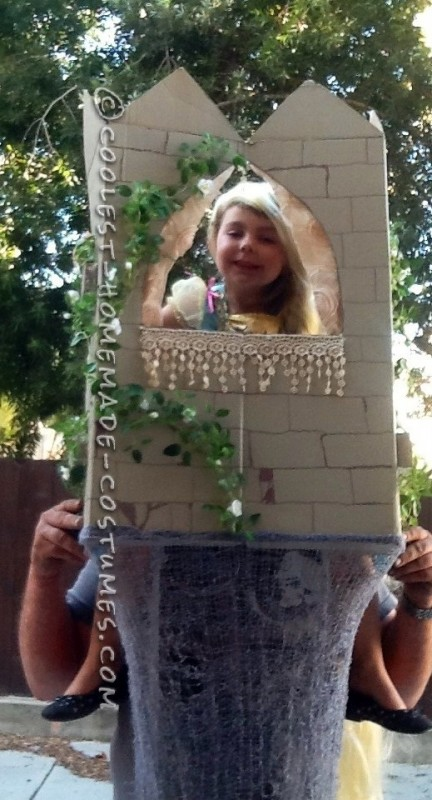 Cool Father Daughter Homemade Couple Costume: Rapunzel in the Tower