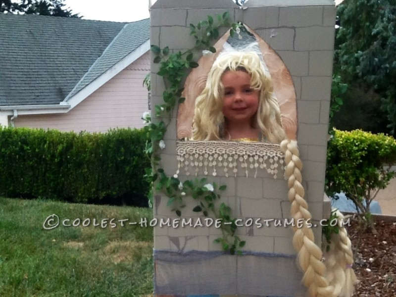 Cool Father Daughter Homemade Couple Costume: Rapunzel in the Tower - 1