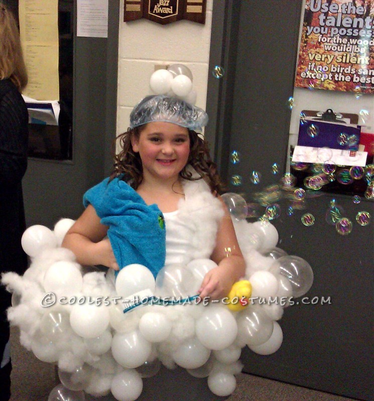 Coolest Homemade Realistic Bubble Bath Costume Idea