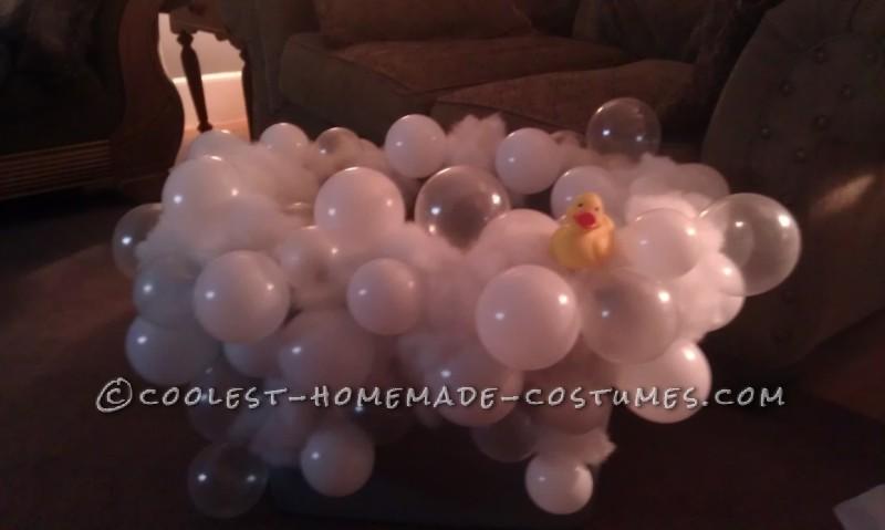Coolest Homemade Realistic Bubble Bath Costume Idea - 1