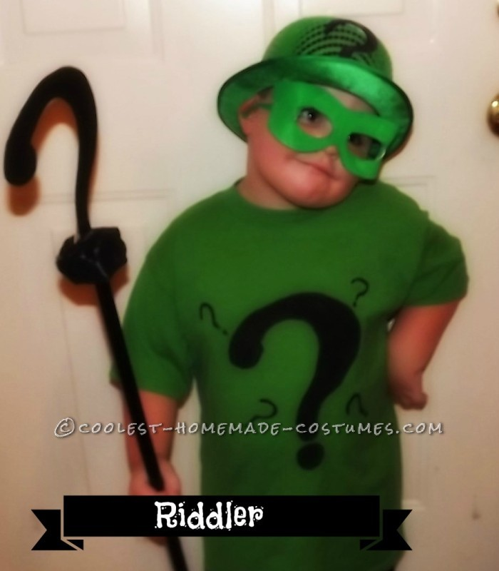 DIY Riddler Costume for 3-Year Old Boy Obsessed With All Things Batman