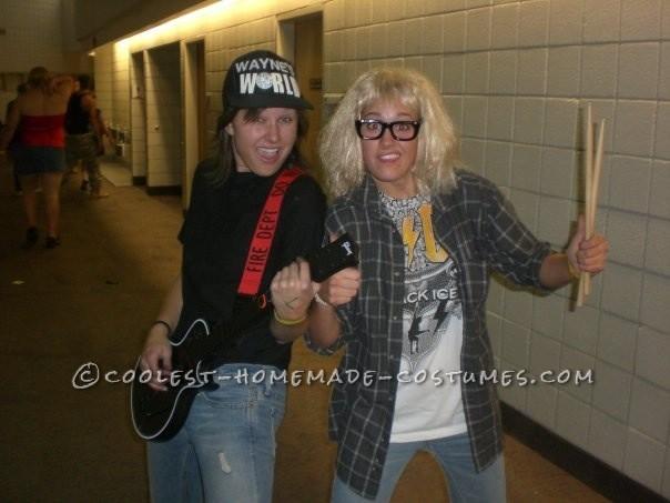 Fun Homemade Costume For Two Girls Waynes World Rock On