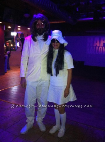 Original Homemade Couple Costume: John and Yoko on Wedding Day!