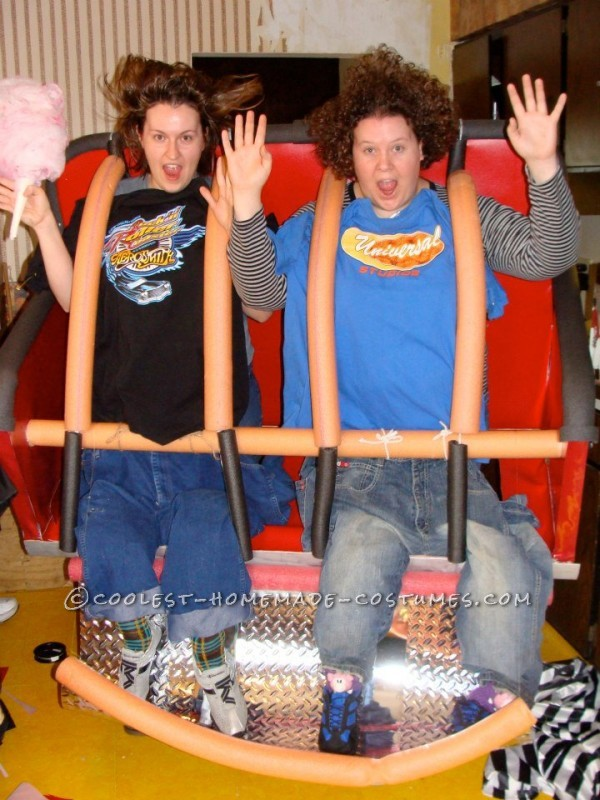 Coolest Homemade Optical Illusion Costume: Roller Coaster!