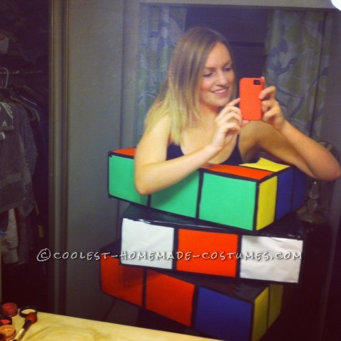 Homemade Rubik's Cube Costume that was a Huge Hit!
