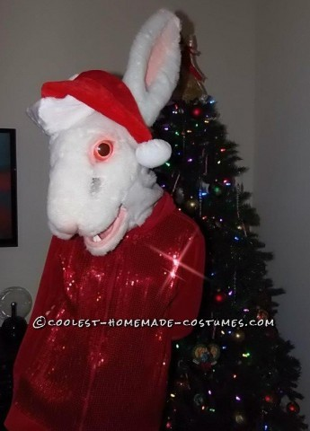 Scary White Rabbit Costume Made from Scratch