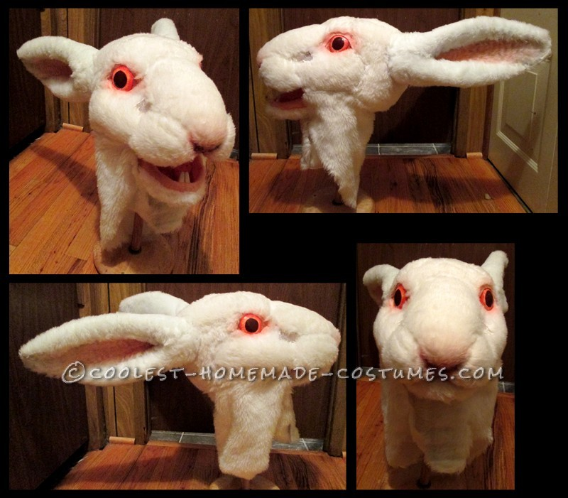 Scary White Rabbit Costume Made from Scratch - 1