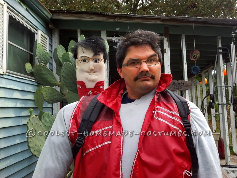 Funny Homemade Scrad and Charlie Illusion Costume from Men in Black