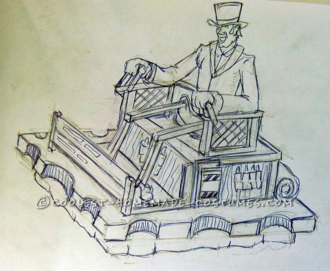 Awesome Self-Levitating Steampunk Traveler Costume