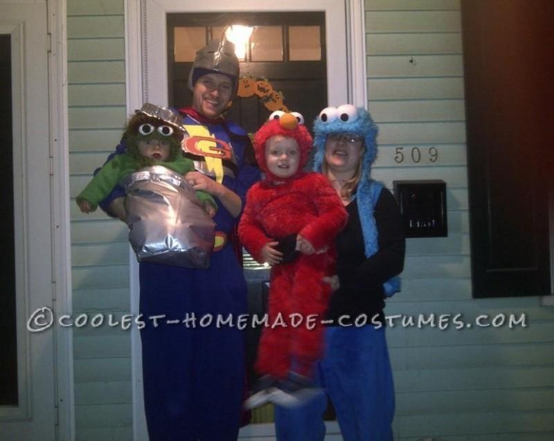 Cool Homemade Sesame Street Family Costume