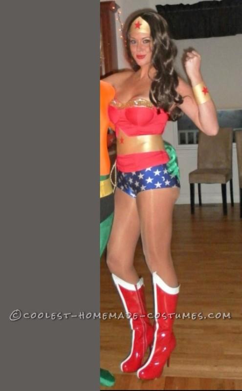 Sexy Homemade Wonder Woman Costume