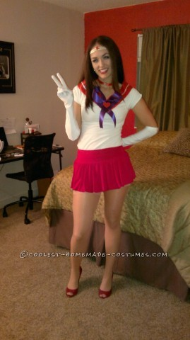 Cute Homemade Costume for a Woman: Sexy Sailor Mars