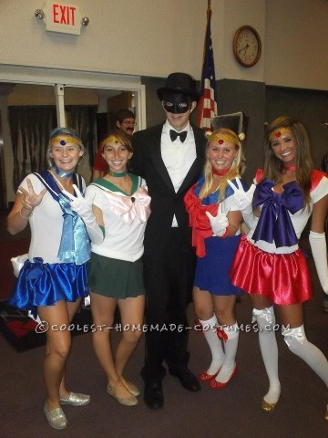 Sexy Sailor Squad and Tuxedo Mask Group Halloween Costume
