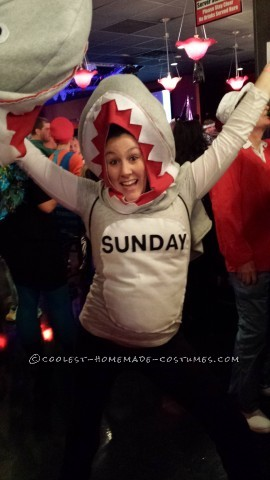 "Cool Homemade ""Shark Week"" Group Costume"