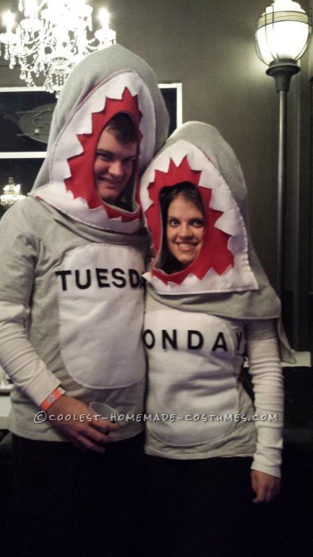 "Cool Homemade ""Shark Week"" Group Costume - 4"