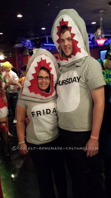 "Cool Homemade ""Shark Week"" Group Costume - 1"
