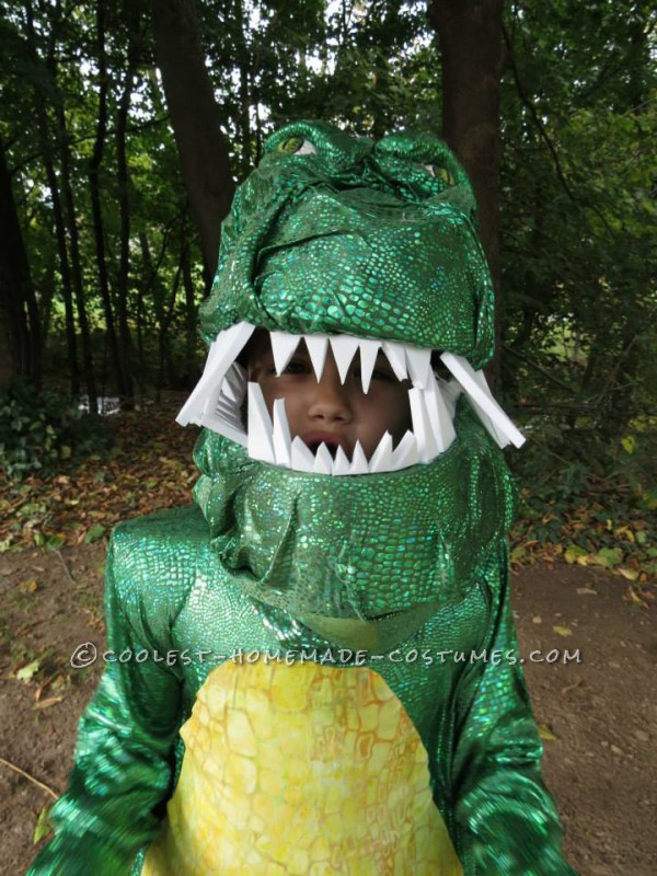 Shiny T-Rex Costume for a Dinosaur-Obsessed 6-Year-Old Girl