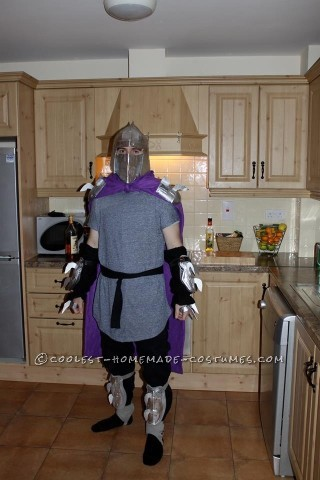 Cool Homemade Ninja Turtle's Shredder Costume Made in 3 Days!