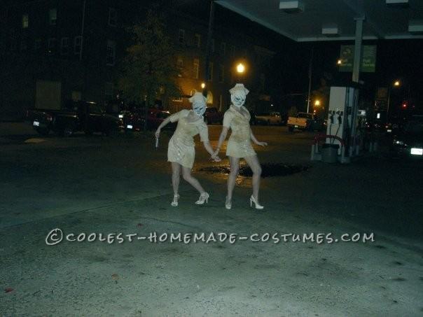 Creepy Homemade Group Costume: Silent Hill Nurses and Pyramid Head - 6