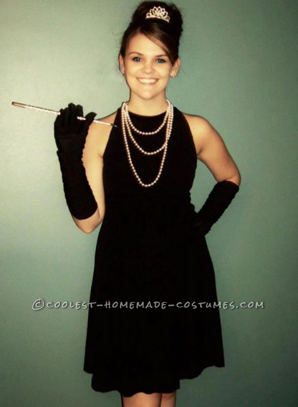 Simple Homemade Audrey Hepburn Costume
