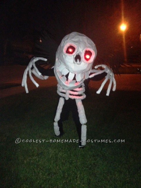 Homemade Skeleton Man Costume