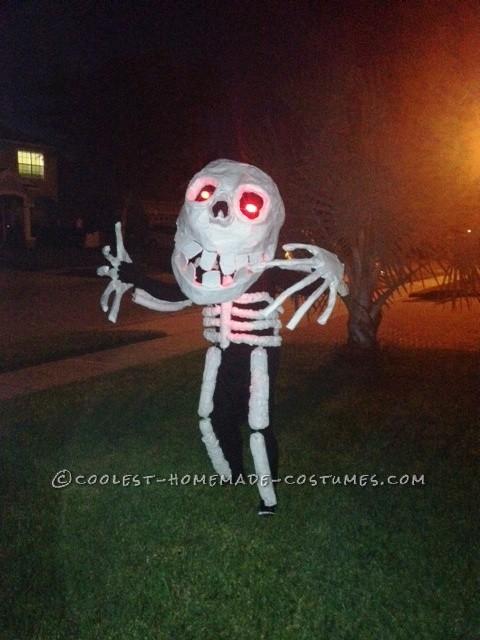 Homemade Skeleton Man Costume - 1
