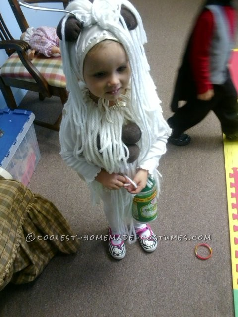 Cool Homemade Spaghetti and Meatballs Costume for a Toddler