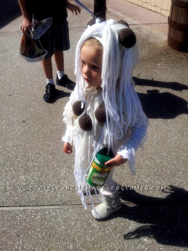 Cool Homemade Spaghetti and Meatballs Costume for a Toddler - 3