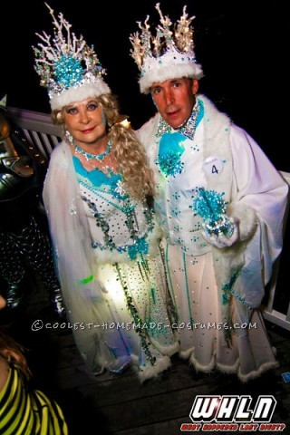 Cool Homemade Couple Costume Idea: Sparkling Snow Queen and Her King