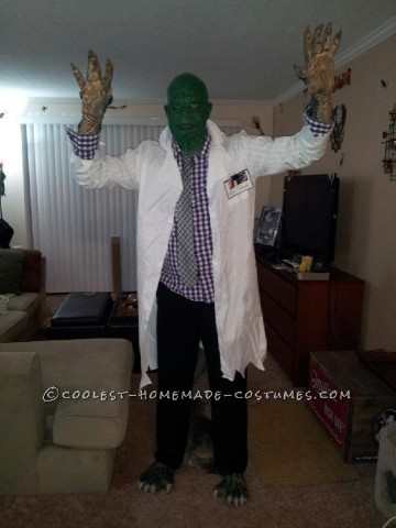 Homemade SpiderMan Villain Costume: Dr. Curt Connors (a.k.a The Lizard)